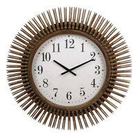Gifts Amsterdam Horloge murale Daphne Rond Bois Couleur naturelle 64cm