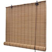 vidaXL Store roulant en bambou 100 x 220 cm Marron
