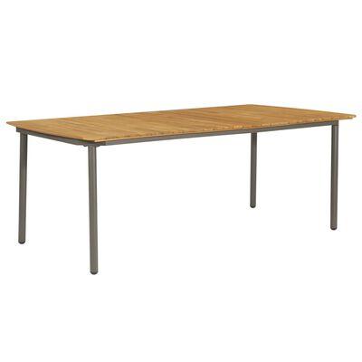 vidaXL Table de jardin 200x100x72 cm Bois d'acacia solide et acier