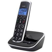 Fysic Téléphone DECT FX-6000 simple Noir et argenté