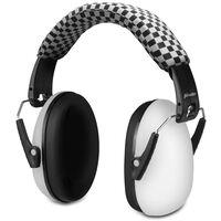 Alecto Protection auditive BV-71WT pour bébés et enfants Blanc et noir