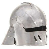 vidaXL Casque de chevalier médiéval antique pour GN Argenté Acier