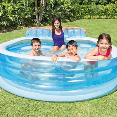 Intex Piscine gonflable Swim Center Family Lounge Pool 57190NP
