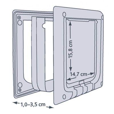 TRIXIE Chatière électromagnétique 4 positions 21,1 x 24,4 cm Blanc