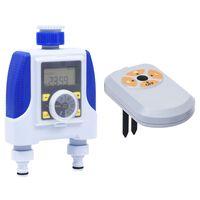 vidaXL Minuterie électronique à double sortie avec capteur d'humidité