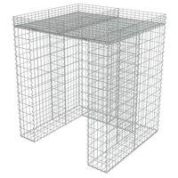 vidaXL Mur en gabion pour poubelle Acier galvanisé 110x100x130 cm