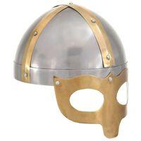vidaXL Casque de viking de réplique antique pour GN Argenté Acier