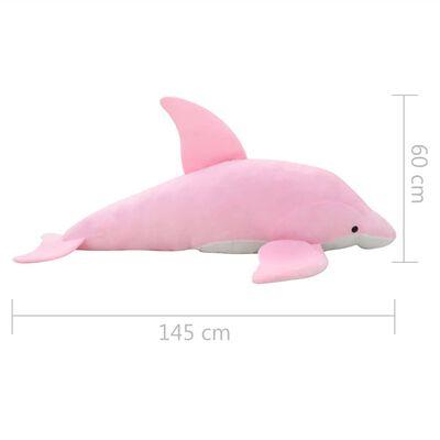 vidaXL dauphin en peluche rose