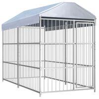 vidaXL Chenil d'extérieur avec toit pour chiens 300 x 150 x 200 cm