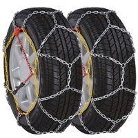 Chaînes de neige pour roue voiture 2 pcs 12 mm KN 70