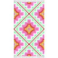 Happiness Serviette de plage ZOPHIA 100x180 cm Multicolore