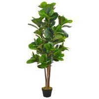 vidaXL Plante artificielle avec pot Feuilles de figuier Vert 152 cm