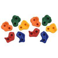 vidaXL 10 pcs Pierres d'escalade Multicolore PE