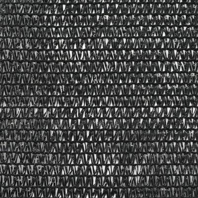 vidaXL Clôture de tennis PEHD 1,6 x 25 m Noir