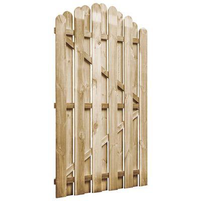 vidaXL Portail de jardin Bois de pin imprégné 100x150 cm
