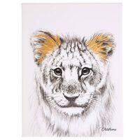CHILDHOME Peinture à l'huile Lion Doré 30x40 cm
