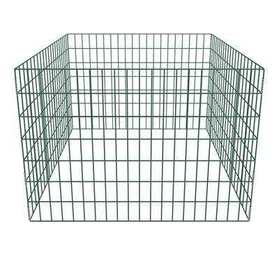 vidaXL Bac à compost carré en maille de jardin 100 x 100 x 70 cm