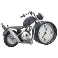vidaXL Horloge de table Anthracite 32x10,5x18 cm Fer et MDF