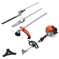vidaXL Ensemble multi-outils à essence de jardin avec moteur de 52 cm3