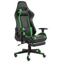 vidaXL Chaise de jeu pivotante avec repose-pied Vert PVC