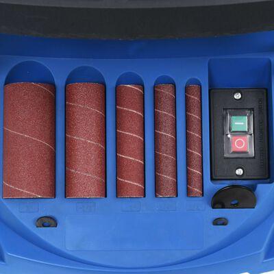 vidaXL Ponceuse à bande et à axe oscillant 450 W Bleu,