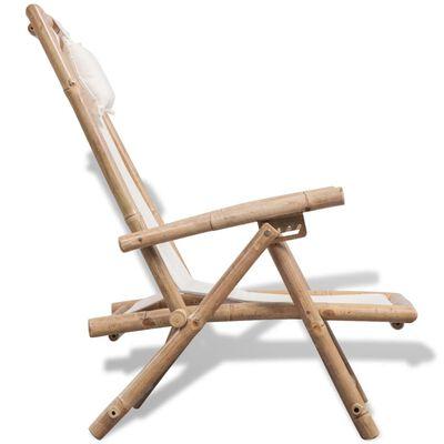 vidaXL Chaise de terrasse d'extérieur Bambou