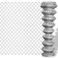 vidaXL Clôture à mailles losangées Acier galvanisé 15x1,5 m Argenté