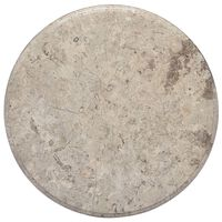 vidaXL Dessus de table Gris Ø50x2,5 cm Marbre