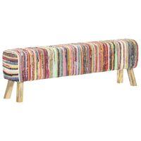 vidaXL Banc 160 cm Multicolore Tissu chindi
