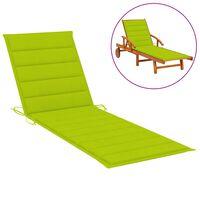 vidaXL Coussin de chaise longue Vert vif 200x50x4 cm Tissu