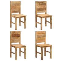vidaXL Chaises de salle à manger 4 pcs Bois solide de manguier