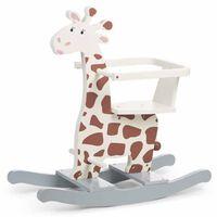 CHILDHOME Girafe à bascule Écru