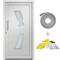 vidaXL Porte d'entrée Blanc 108x208 cm