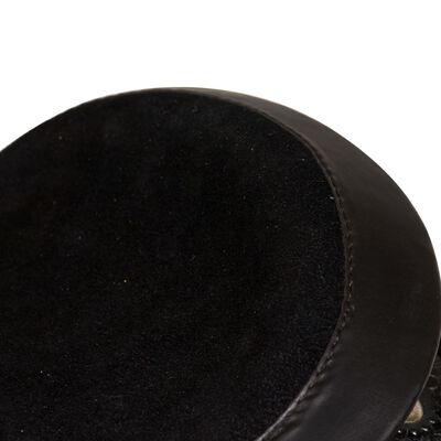 vidaXL Selle, bridon et col de poitrine Cuir véritable 16 po Noir