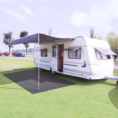 vidaXL Tapis de tente 250 x 500 cm Anthracite