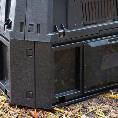 Nature Bac à compost Noir 400 L
