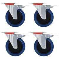 vidaXL 8 pcs Roulettes pivotantes 125 mm