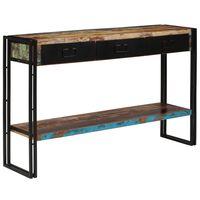 vidaXL Table console Bois de récupération massif 120 x 30 x 76 cm
