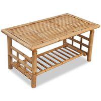 vidaXL Table basse Bambou 90 x 50 x 45 cm
