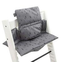 Jollein Coussin de chaise haute Spot Gris tempête
