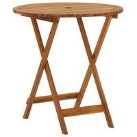 vidaXL Table pliable de jardin 70 cm Bois d'acacia solide