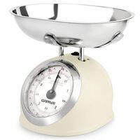 G3FERRARI Balance de cuisine mécanique Crème 5 kg G20003