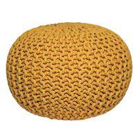 LABEL51 Pouf tricoté Coton M Jaune