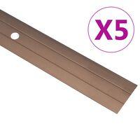 vidaXL Profils de sol 5 pcs Aluminium 100 cm Marron