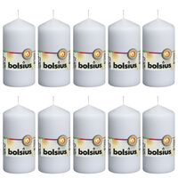 Bolsius Bougies pilier 10 pcs 120x58 mm Blanc
