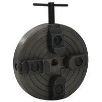 vidaXL Mandrin à bois 4 mâchoires et connexion M18 Acier Noir 150x63mm