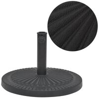 vidaXL Socle de parasol Résine Rond Noir 29 kg