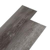 vidaXL Planches de plancher PVC 5,26 m² 2 mm Bois rayé
