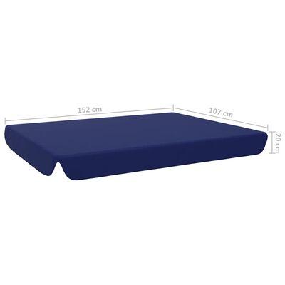 vidaXL Toit de rechange pour balançoire de jardin Bleu 192x147 cm