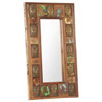 vidaXL Miroir avec revêtement Bouddha 50x80 cm Bois de récupération